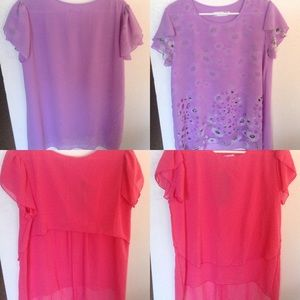 Tops - 2 Womens Tops 3X-new with and without tags